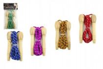 Švihadlo 270cm s drevenou rukoväťou nastaviteľné mix farieb v sáčku CZ dizajn - mix variantov či farieb