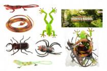 Zvieratká plazy / hmyz plast