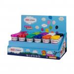 Plastelína - VEĽKÝ OHNISKOVEJ NÁDOBKY mix farieb á 141g (48 ks v celom balení)
