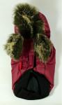 Obleček - Vesta s kapuc. s medvídkem vínová DD XS - 20 cm