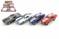 Auto Kinsmart Shelby GT-500 kov 13cm na spätné natiahnutie - mix farieb