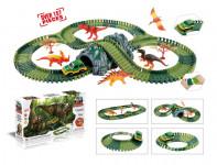 Variabilní dráha s dinosaury a tunelem 144 dílů