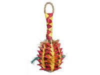 Hračka pták přírodní Ananas RW 6 x 6 x 14 cm