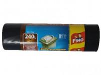vrecia na odpadky 240l (8ks) 120x150cm ČER 50μ extra silné FINO