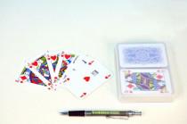 Canasta společenská hra karty v plastové krabičce 13x10cm