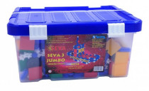 Stavebnica Seva 3 Jumbo plast 1074ks v plastovom boxe