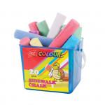 20 eASY Colours-chodníkové křídy 20 ks/sada v kyblíku