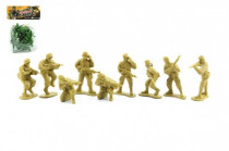Sada vojaci plast 10ks v sáčku 11x15cm - mix farieb
