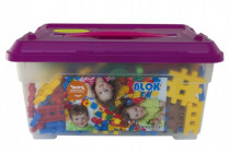 Stavebnica Blok plast 272 dielikov + 8 koliesok v plastovom boxe