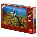 Puzzle 3000 dielikov: Neuschwanstein na jeseň