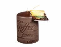 Sviečka COFFEE NÁPIS VALEC d7x10cm