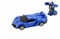 Transformer auto / robot plast 14cm na zotrvačník - mix farieb