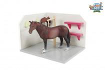 Drevený umývací box pre kone 1:24