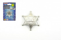 Šerifská hviezda odznak kov 5cm