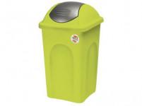 kôš odpadkový výklopný PRIMAVERA 30l obdĺžnikový LIM / ŠE plastové veko