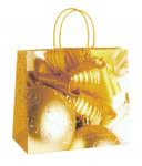 Darčeková taška EKO, zlaté ozdoby 24 cm, DITIPO - VÝPREDAJ