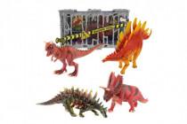 Dinosaurus v klietke plast 4 druhy 19-22cm