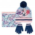 Sada nákrčník, rukavice, čiapka s brmbolcom - Disney Minnie