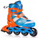 Spokey HASBRO STRIVE Roller skates, blue-orange, brand NERF, ABEC7 Carbon, size 33-37 - VÝPREDAJ