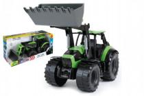Traktor se lžící Worxx plast 45cm 1:15 v krabici DeutzFahr Agrotron 7250