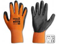 rukavice NITROX ORANGE nitril 8 - VÝPREDAJ