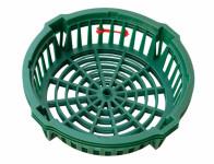 Košík na cibuľoviny tmavo zelený d22cm 3ks