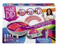 Kreatívna sada Magic Dip maľovanie s príslušenstvom kancelárske potreby v krabici 27,5x20,5cm