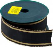 Stuha Smútočný textilné - 4 cm x 9,14 m čierna
