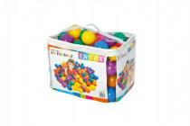 Míček/Míčky do hracích koutů 8 cm barevný 100ks v plastové tašce