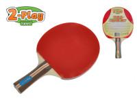 Raketa na stolný tenis 2-Play drevená 25 cm