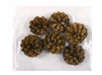 Dekorácie sušiny ŠIŠKY BOROVICA prírodný 5-7cm 6ks