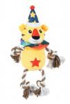 Hračka pes ROPE TIGER plyš žlutá 42cm Zolux
