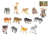Zvieratká safari mláďatá 6,5-9 cm 12 ks