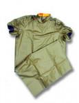 Pôrodná plášť zelený, krátky rukáv, suchý zips 130cm 1ks