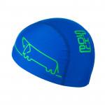 Spokey TRACE JUNIOR Plavecká čepice nylon, logo pejsek modrá