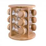 kořenka BRILLANTE skl.+dřev.(12ks) s otoč. stojánkem dřev.