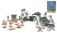 Vojáci 2 vojska s vojenskými vozidly a doplňky 42 ks
