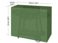 "plachta krycia na gril CLASSIC ""M"" 124x61x91cm, PE 90g / m2"
