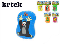 Pískacie vankúšik Krtko plast 9x12cm - mix variantov či farieb