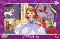 Puzzle deskové Princezna Sofia 29,5x19cm 15 dílků