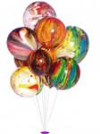 balóniky mramorované