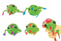 Sliz žaba mačkacie 9cm - mix farieb