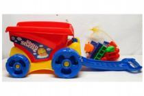 Vozík se stavebnicí 31 dílků plast