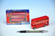 """Autobus """"Londýn"""" červený patrový kov 10cm"""