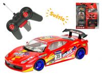 R/C auto sportovní 22 cm 1:18 plná funkce 27 MHz na baterie se světlem - mix barev