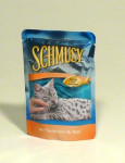 Schmusy Cat kapsa Fish tuniak + ryža 100g