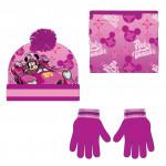 zimné set-čiapky, nákrčník, rukavice Minnie