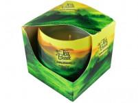 sviečka vonná sklo TEA BREAK 100g (horí 20 hod)