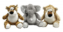 Plyšové zvieratká lev, tiger, slon, gepard 53 cm