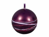 Sviečka SATURN GUĽA vianočné metalická lesklá d8cm